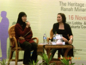me and mbak Wenny, at the stage...