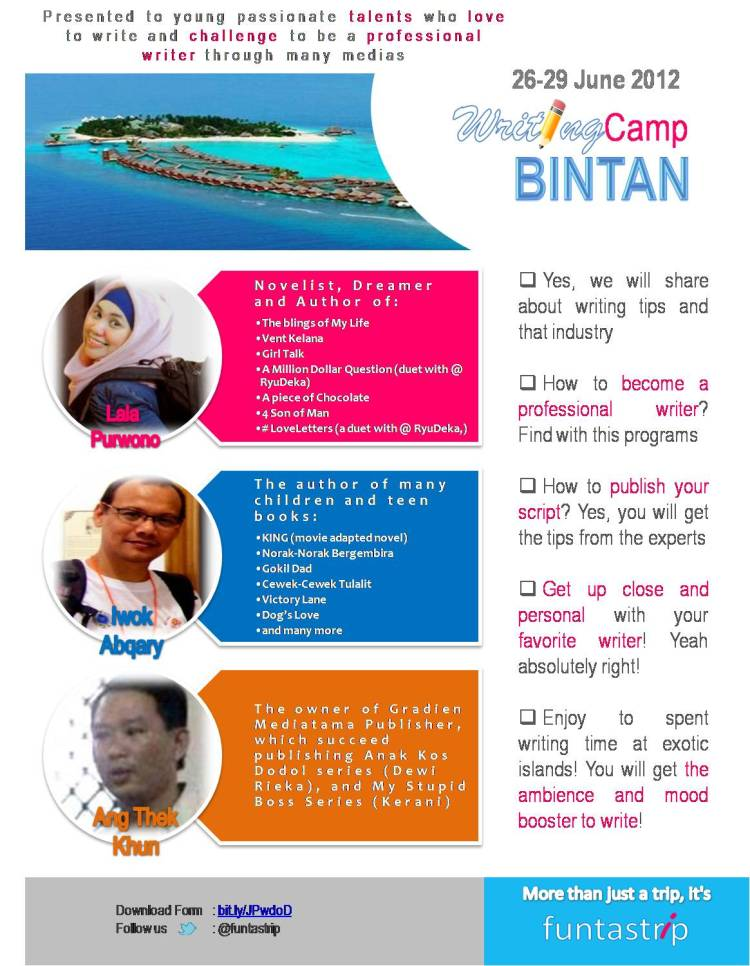 Workshop Menulis Seru di #WritingCampBintan, yuk!